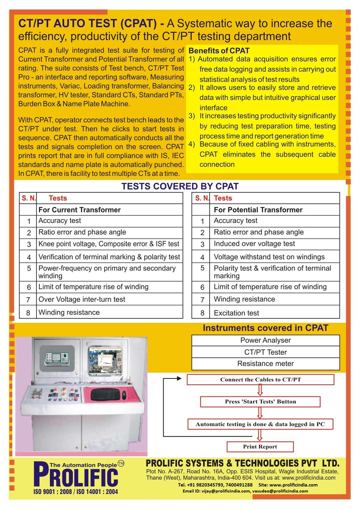 Ct Pt Auto Test Current Transformer Auto Test Potential
